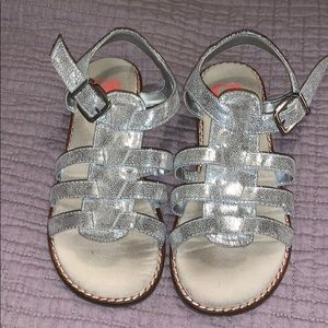 GB Girls as 12 Silver Sandals